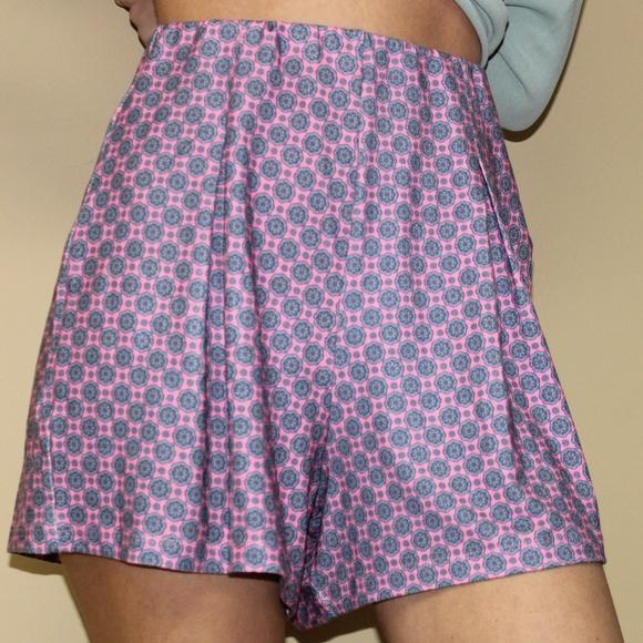 ASOS Pants - ASOS TALL Jersey Pleat Culotte Shorts//TILE PRINT